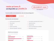 screenshot http://vente-privees.fr vente privée aglae