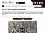 screenshot http://www.veritable-macrame.com voilages et rideaux en macramé brodé