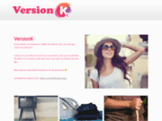 screenshot http://versionk.fr Version K - Vêtements tsniout tendances