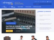 screenshot http://www.vetement-travail-pro.fr Des vêtements de travail brodé avec votre logo société.