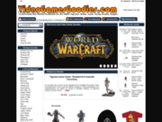 screenshot http://www.videogamesgoodies.com la boutique des produits dérivés du jeu vidéo.