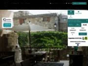 screenshot http://www.vieux-lanas.fr auberge du vieux lanas hôtel restaurant en ardèche
