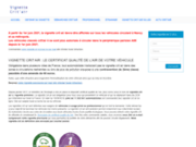 screenshot http://www.vignette-critair.com/ Commander la vignette antipollution Crit'air- Certificat Qualité de l'air