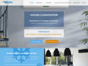 screenshot http://www.viguierclimatisation.com Viguier Climatisation