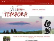 screenshot http://www.villatempora.com villa tempora, artisans vignerons bio aoc languedoc