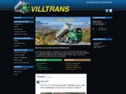 screenshot http://www.villtrans.ch bienvenue sur le site internet de villtrans sàrl - transports en tous genres - villeneuve - suisse