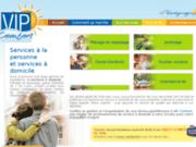 screenshot http://www.vipcomfort.fr ménage et garde d'enfants