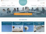 screenshot https://www.virages-formations.com/ Formations en psychothérapie et en coaching à Paris