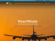 screenshot http://www.visas-minute.fr VISAS MINUTE est un service en ligne pour obtention de visas.