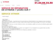 screenshot http://www.vitrier.fr/ vitrier vitrerie 24h/24 et 7j/7 paris ile de franc