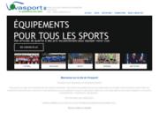 screenshot http://www.vivasport-equipements.com equipement des clubs de sport collectif - vivasport