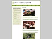screenshot http://www.voix-en-mouvement.com développement de votre créativité personnelle