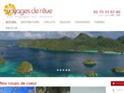 screenshot http://voyages-2-reve.com voyages de rêves : conseils et réservation hôtels de luxe et séjours haut de gamme