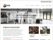 screenshot http://www.vuillemet.com alain vuillemet sculpteur créateur des  métamorphoses métallique