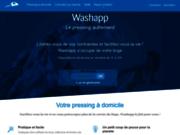 screenshot http://www.washapp.fr pressing à domicile