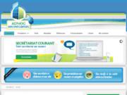 screenshot http://www.web-secretariat.fr secrétariat à distance ou sur site sur nice