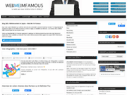 screenshot http://www.webmeimfamous.com web me i'm famous - référencement et webmarketing