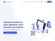screenshot http://www.weboptime.com Création de sites web au Maroc et en France
