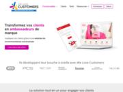 screenshot http://www.welovecustomers.fr Parrainage client