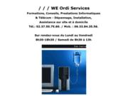 screenshot http://www.weordiservices.fr assistance informatique internet à domicile dreux