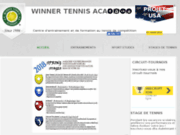 screenshot http://www.winnertennisacademy.com tennis
