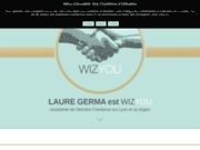 screenshot https://www.wizyou.pro Laure Germa est wizyou : assistante de direction indépendante sur Lyon