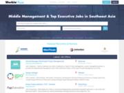 screenshot http://www.workinasia.net/ Offres d'emplois