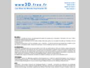 3D - Les sites du monde IMPRIMANTE 3D