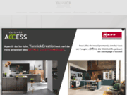 screenshot http://www.yannick-creation.fr cuisine cuisiniste herault