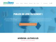 screenshot https://www.youstory.fr/ Publication de livre