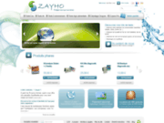 screenshot http://www.zayho.com zayho - votre boutique de tests et analyses