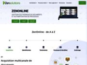 screenshot http://www.zensolutions.fr GED Zensolutions