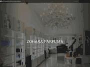 screenshot http://www.zohara-parfums.com zohara parfums : parfums de marque en algérie
