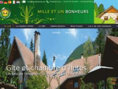 Création du site Internet de 1001bonheurs.com (Entreprise de Gîtes et chambres d'hôtes à LA BATIE NEUVE )