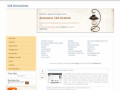 118 Annuaires : Renseignement internet