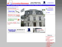 Création du site Internet de AB Corporation Dépannages (Entreprise de Courtier en travaux à  PARIS CEDEX 16 )