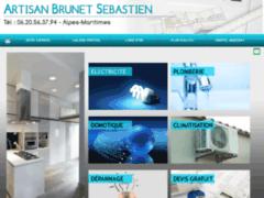 Création du site Internet de Artisan brunet sebastien (Entreprise de Electricien à CANNES LA BOCCA )