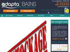 Création du site Internet de adapta' bains (Entreprise de Plombier à GAP )