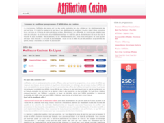 Détails : Affiliation casino