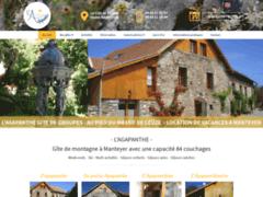 Création du site Internet de L'Agapanthe (Entreprise de Gîtes et chambres d'hôtes à MANTEYER )