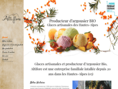 Création du site Internet de ALTI FLORE (Entreprise de fabricant de glaces à  CHABOTTES )