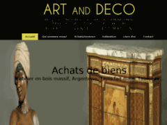 Création du site Internet de ART and Deco (Entreprise de Artisan d'art à PAU )