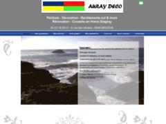 Création du site Internet de AURAY DECO  (Entreprise de Carreleur à MEUCON )
