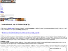 Consulter la fiche de Badminton Web