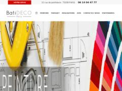 Création du site Internet de Batideco  (Entreprise de Peintre à PARIS )