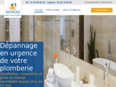Création du site Internet de ETS BATIGAZ (Entreprise de Plombier à ANTONY )