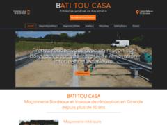 Création du site Internet de BATI TOU CASA (Entreprise de Maçon à CENON )