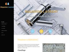 Création du site Internet de Béganton Laurent (Entreprise de Plombier à BERGERAC )
