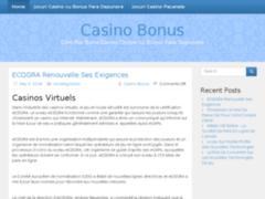 Consulter la fiche de casino