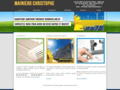 Création du site Internet de Mainiero Christophe (Entreprise de Chauffagiste à GAP )